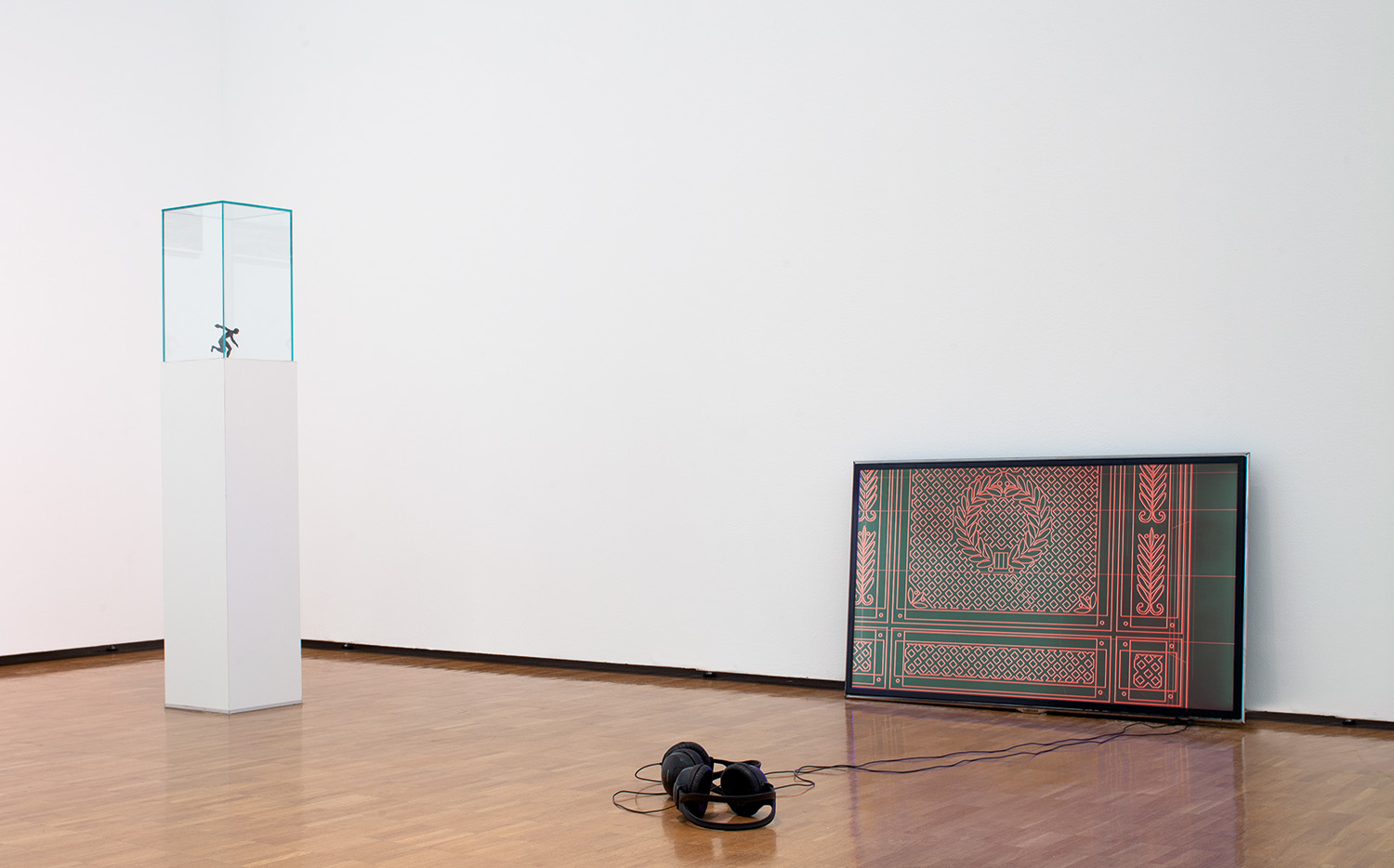installationsansicht • Preview - Kunsthalle Sparkasse Leipzig • a returning course of movement • 2019